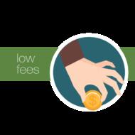 Low fees<span> ⋅ Easy money</span>